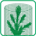 RIGID MESH TUBE PROTECTION FOR TREES, SHRUBS, GARDEN PLANTS