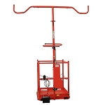 Plantra AviGard Row Netting Applicator Platform With Electric Actuator Boom Lift